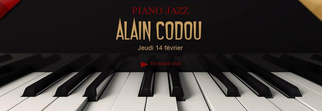 Alain Codou, piano Jazz au Dakota Mourillon, le 14 février 2019