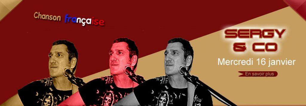 Sergy, reprise chansons françaises en concert à Toulon en janvier, au Dakota Mourillon