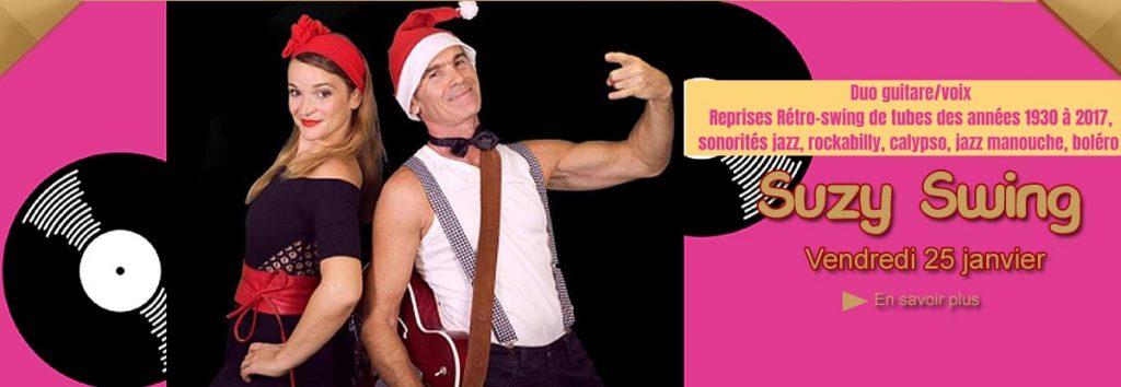 Susy Swing en concert  en janvier au Dakota Mourillon, restaurant musical