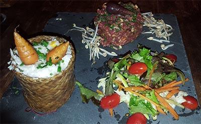 Steak tartare à la Thaï, saloon Dakota Toulon