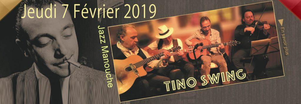 Tino, Jazz Manouche au Dakota Mourillon à Toulon, le 7 février 2019