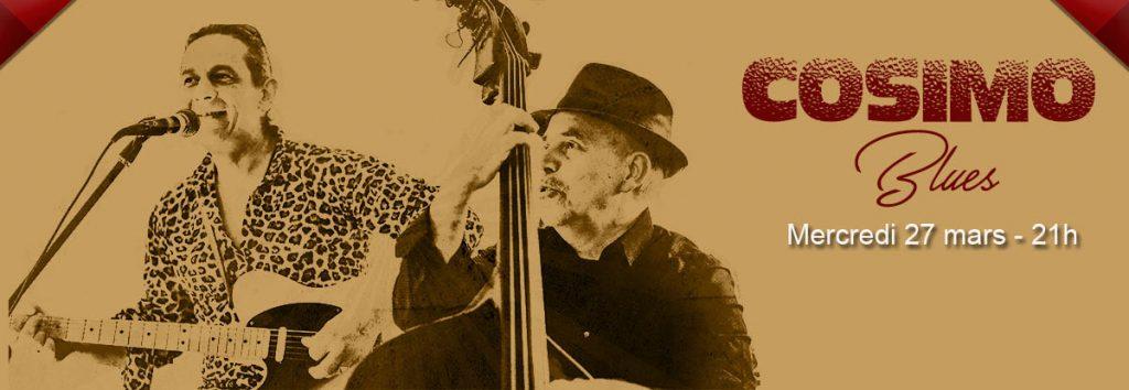 Cosimo blues en Mars au Dakota Mourillon, restaurant musical à Toulon