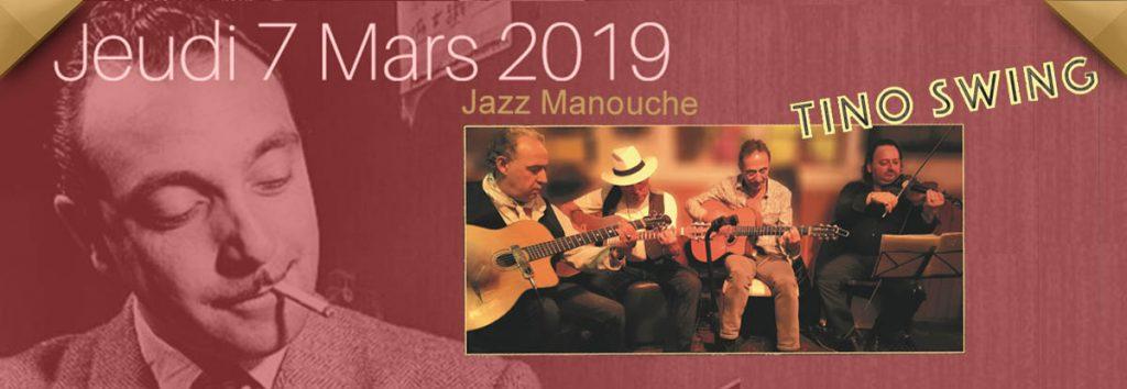 Tino, jazz manouche en mars au Dakota, restaurant à Toulon