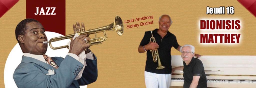 Dionisi et Matthey, jazzmen en représentation en mai au Dakota Mourillon, restaurant à Toulon.