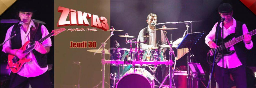 Zik A3, groupe Pop en mais au Dakota Mourillon, restaurant musical à Toulon