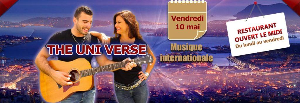 The Uni-verse en concert en mai au Dakota Mourillon, restaurant musical Toulon