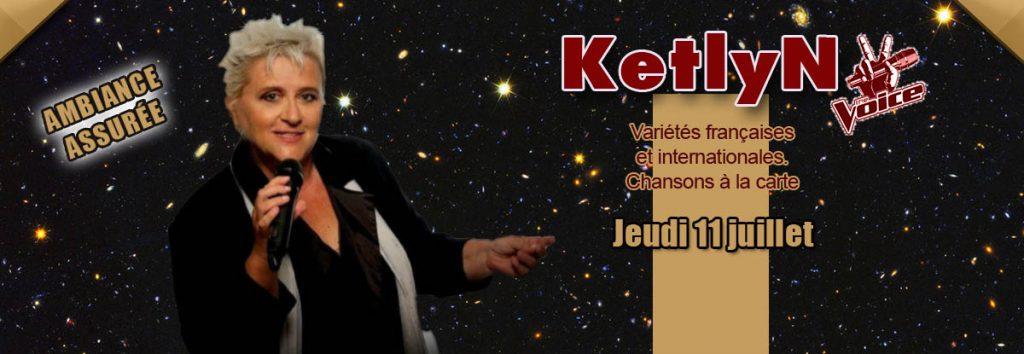 """restaurant concert Toulon : Ketlyn """"the Voice"""" en représentation le jeudi 11 juillet 2019 au Dakota Mourillon à Toulon"""