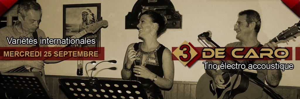 3 de caro en concert au restaurant le Dakota Mourillon à Toulon