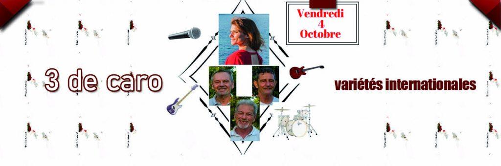 3 de caro en concert le 4 octobre au Dakota Mourillon