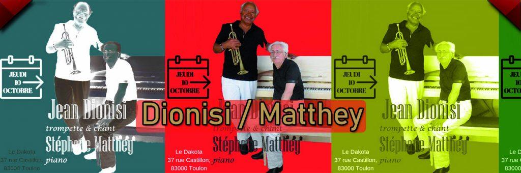 Dionisi et Matthey en concert au dakota Mourillon