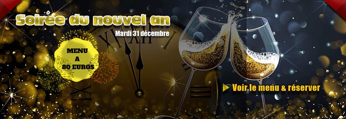 Repas du nouvel an au restaurant à Toulon